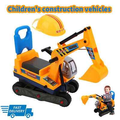 UK Childrens Ride On Excavator Digger Construction Truck Car Kids Digger Toys • 25.51£