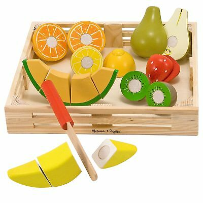 Melissa & Doug 14021 Cutting Fruit Wooden Toy Set Play Food Kitchen Accessory • 13.99£