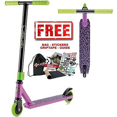 Xootz Complete Childrens T-Handlebar Stunt Scooter - Toxic Purple • 34.95£