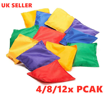 12X Pack Bean Bags Child Kid Throwing Catching Toys Gift Outdoor Sport Safety UK • 8.99£