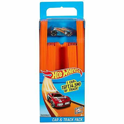 Hot Wheels BHT77 Straight Track Builder With Diecast And Mini Car Toy Pack • 13.79£