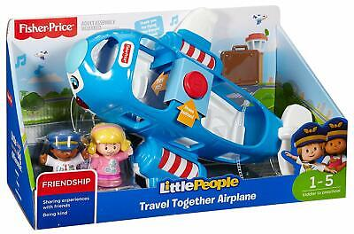 Fisher-Price Little People Vehicle Airplane Large Plane Kids Toy • 19.99£