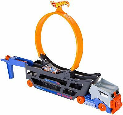 Hot Wheels Stunt And Go Transporter Track Set Truck Kid Toy Gift • 24.99£
