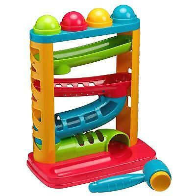 Tippi Pound A Ball Ramp Racer Track Baby/Toddler Hammer Childrens Activity Toy • 10.99£