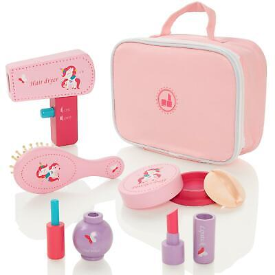 Milly & Ted Wooden Girls Pretend Play Cosmetic Make-Up Beauty Set • 8.50£