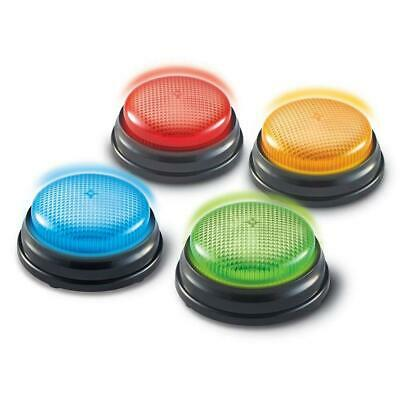Learning Minds Lights & Sounds Answer Buzzers 4 Pack - For Quiz Games • 9.99£