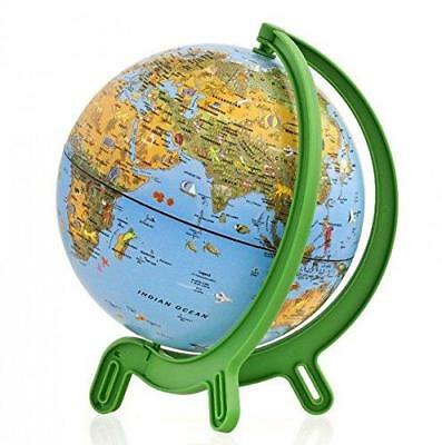Kids Childrens Animal Political Border World Globe & Base 16cm Educational Map • 18.47£
