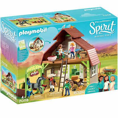 Playmobil Barn With Lucky, Pru & Abigail - Spirit Riding Free 70118 • 55.95£