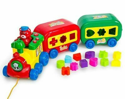 Musical Puzzle Train Set With Shapes & Sound Magical Baby Toddler Toy Kids Gift • 12.99£
