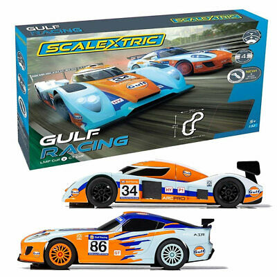 SCALEXTRIC Set C1384 Gulf Racing (GT V LMP) • 84.95£