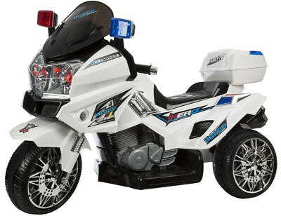 Kids Battery Operated Ride On Police Trike, Lights And Sounds,Top Speed Of 5 Km • 66.75£