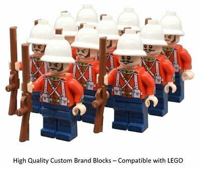 10 Minifigure British Empire Army - LEGO Soldiers Troops English Zulu • 14.95£