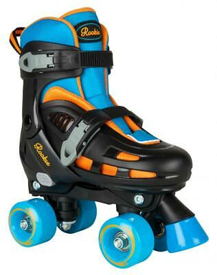 Rookie Duo Kids Adjustable Roller Skates - Black/Blue/Orange • 39.95£