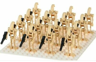 20 X  BATTLE DROID ARMY STAR WARS Lego MINI FIGURES ARMY NEW • 12.95£