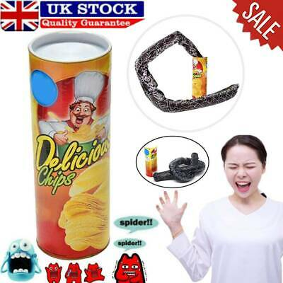 Potato Chip Snake In A Can Gag Gift Prank Scary Shock Birthday Surprise UK • 5.55£