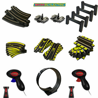 MICRO SCALEXTRIC Track Extension Pack, Straights, Bends, Loops, Bridges, Spares • 18.95£