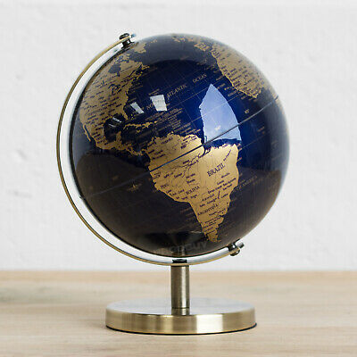 18.5cm Plastic Rotating World Globe Map Atlas Kids Childrens Bedroom Decoration • 15.99£