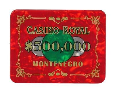Casino Royale Poker Plaque Chips $500k Red Le Chiffre 007 James Bond Prop HEAVY • 17.99£