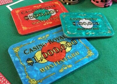 3 X Casino Royale Poker Chips Replica Plaques James Bond 007 Movie Film Prop  • 39.99£