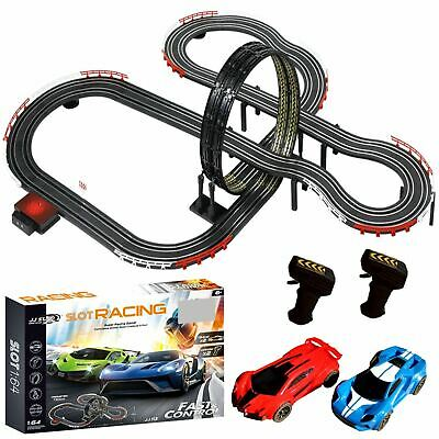 Large Electric Remote Control Slot Car Racing Track Set Kids Toy Race Game JJ113 • 29.99£