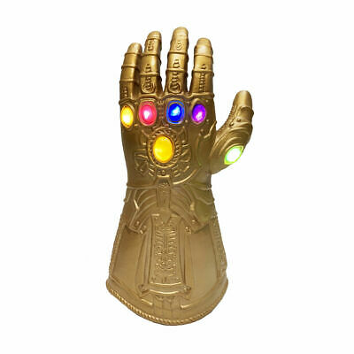 Kids Thanos Glove Infinity Gauntlet With LED Light 4  Cosplay Toy • 14.69£