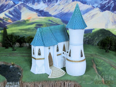 MASSIVE High Elf House&tower 28mm 3d Alien Worlds, Sigmar, D&d Kings Of War Etc • 95£
