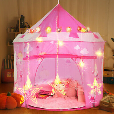 New Kids Children Pop Up Princess Castle Tent Game Playhouse Girl Fairy Tale • 17.49£