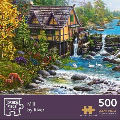 Mill By The River 500 Piece Jigsaw Puzzle, Toys & Games, Brand New • 7£