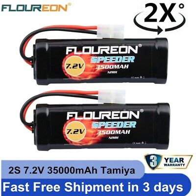 2x 2S 7.2V 3500mAh Nimh Battery Pack Tamiya For RC Cars Boat Plane Helicopter UK • 22.99£