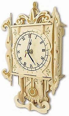 PENDULUM CLOCK Woodcraft Construction Kit -  3D Wooden Model Puzzle F004 • 11.45£