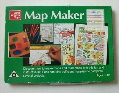 MAP MAKER John Adams Toys Educational Kit Geography Age 8 To 12 Made In England • 11.99£