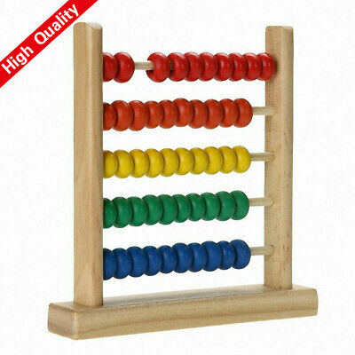 Colorful Wooden Abacus Math Toy Kids Children Number Counting Montessori Toy  • 6.69£