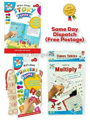Children Create Learn To Multiply Maths / Matching Numbers / Wipe Clean Story • 3.39£
