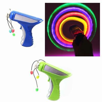 Kids Light Up LED SPINNER TOY GUN -Rope Spin Propellor Beads, Parties, Gift Bag • 14.99£