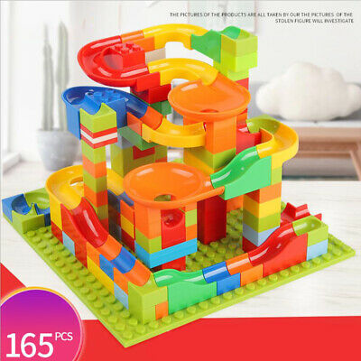 165pc Marble Run Race Set Construction Building Blocks Kids Toy Game Track Gift • 12.96£
