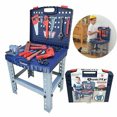 Children Kids Work Bench Toy Play Set  69 Tools DIY Construction Work Station UK • 21.99£