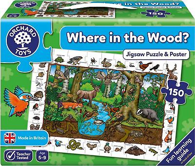 Orchard Toys WHERE IN THE WOOD? Educational Game Puzzle BN • 12.20£