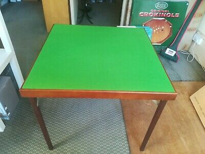 Jacques Of London Card Games Table 78cm Square 68cm Height Stained Wood Foldable • 65£