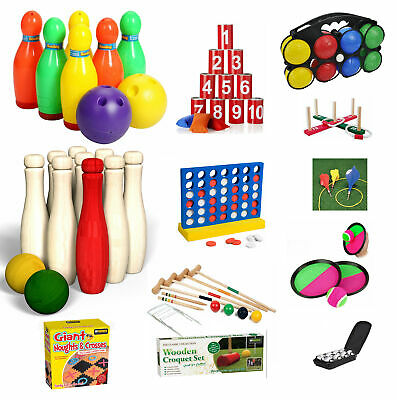 Jumbo Outdoor Garden Games Kids Family Fun Activity Giant Toys Bowling Boules • 7.99£
