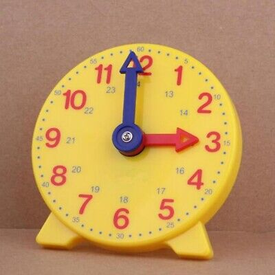 10cm 24 Hour Teach The Time Student Clock Learning Resource Maths Home Education • 4.89£