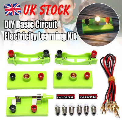 Kids School Electric Circuit Kit Science Toys Kits Montessori Learning Experimen • 4.94£