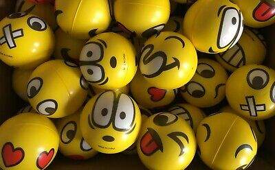 Emoji Squeezable Stress Relief Balls - Sensory Autism, ADHD Or Fun Toy • 4.99£
