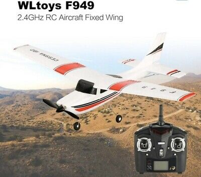 WLtoys F949 CESSNA-182 2.4G 3CH RC RTF Airplane Aircraft Fixed Wing Plane.NEW • 39.99£