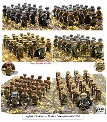 21pcs WWII Mini Figures Army CUSTOM LEGO British Russian Soldiers Troops UK WW2 • 21.95£
