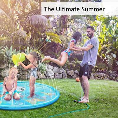 Inflatable Sprinkler Pad Outdoor Sprinkle And Splash Water Play Mat Toy For Kids • 9.68£