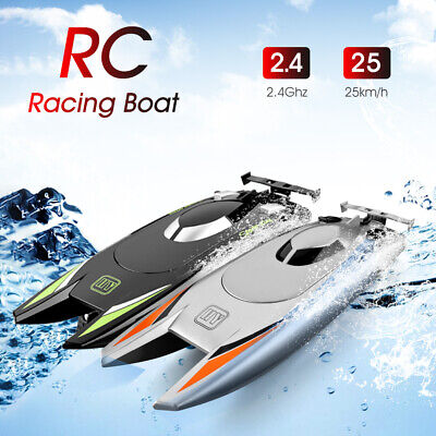 RC Boats For Kids Adult 25KM/H High Speed Racing Boat 2 Channels Remote Control • 18.38£
