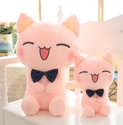 Plush Cat Doll Soft Pillow Sofa Pink Home Decoration Toy Cushion Girlfriend Gift • 18.98£