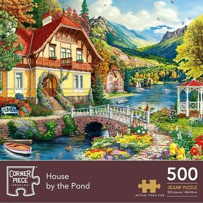 House By The Pond 500 Piece Jigsaw Puzzle, Toys & Games, Brand New • 7£