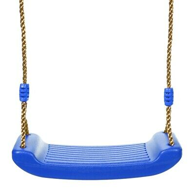 Childrens Garden Plastic Swing Seat W/ Ropes For Kids Climbing Frame Playhouse • 11.99£