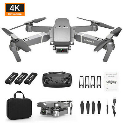 Drone X Pro 2.4G Selfie WIFI FPV With 4K HD Camera RC Quadcopter Drone 3 Battery • 55.53£